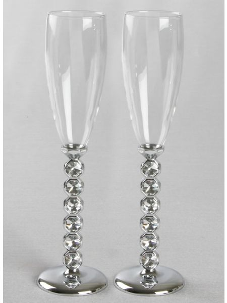 Faceted Stone Toasting Flutes