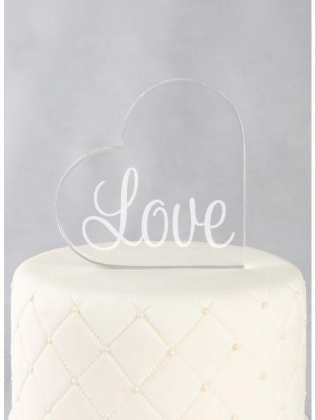 LOVE Acrylic Cake Top